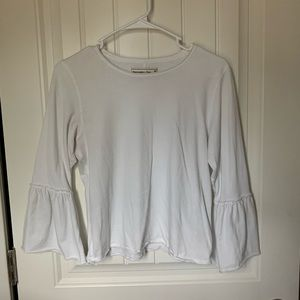 Abercrombie women's white top with flare sleeves